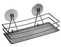 Полочка для ванной на присосках Arino 25х11х9см