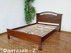 """Кровать с кованным элементом """"Фантазия - 2"""". Массив - сосна, ольха, береза, дуб., фото 2"""