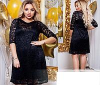 Гипюровое платье нарядное с 46-60 размер, фото 1
