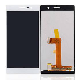 Дисплей (экран) для Huawei P7 Ascend Sophia-L10 з сенсором (тачскріном) белый Оригинал