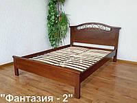 """Белая полуторная кровать """"Фантазия - 2"""". Массив - сосна, ольха, береза, дуб."""