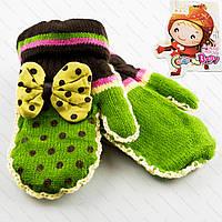 Красивые детские варежки для девочек Tanya 03-09-4
