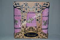 Комплект полотенец 3шт. Vevien Bamboo Бамбук 100% (2 лица, баня) - Турция 2101