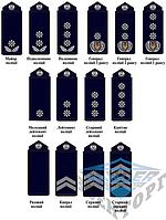 Погон полиции Украины на липучке разные звания