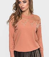 Женский свитер с сеткой и бусинами (4043 sk)