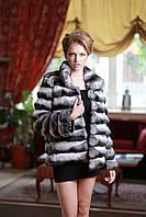 Шуба полушубок из шиншиллы  Chinchilla fur coat  over coat.