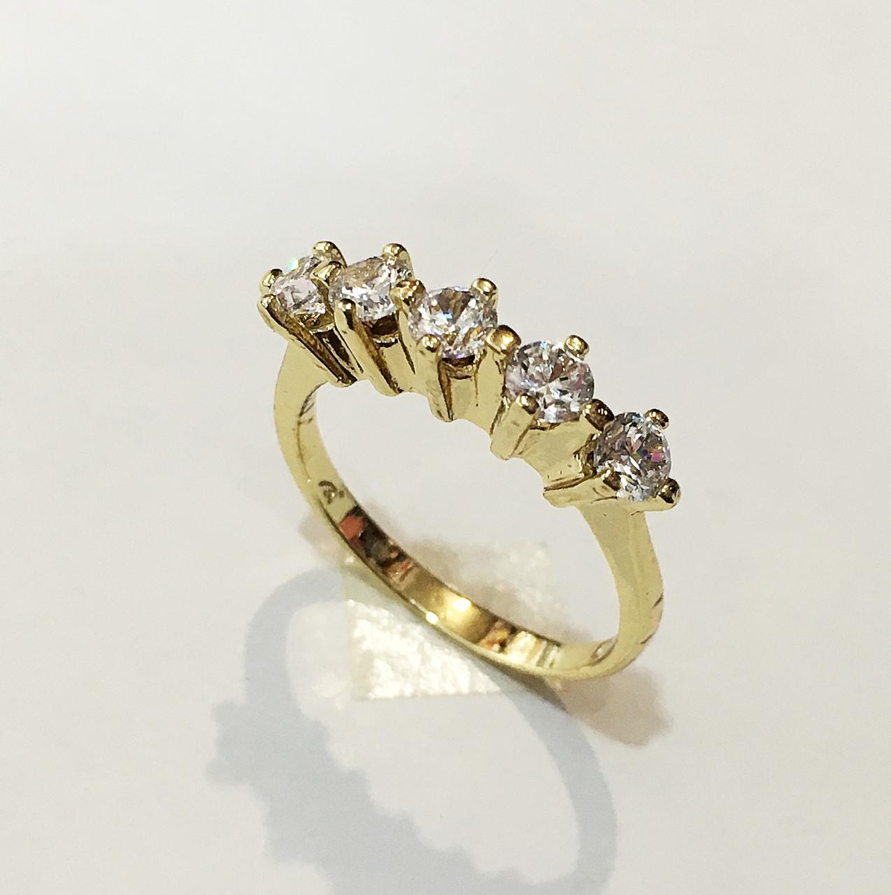 Кольцо Авориаз, размер 17, 18 ( под итальянское золото 750 пробы) XP