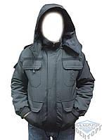 Куртка бушлат черный для охраны