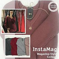 Хит продаж ! стильный вязаный свитер из натуральной шерсти новая коллекция осень-зима