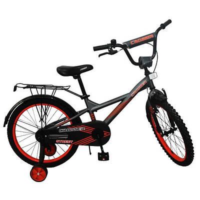 """Детский велосипед CROSSER STREET 20""""  Серый/Оранжевый"""