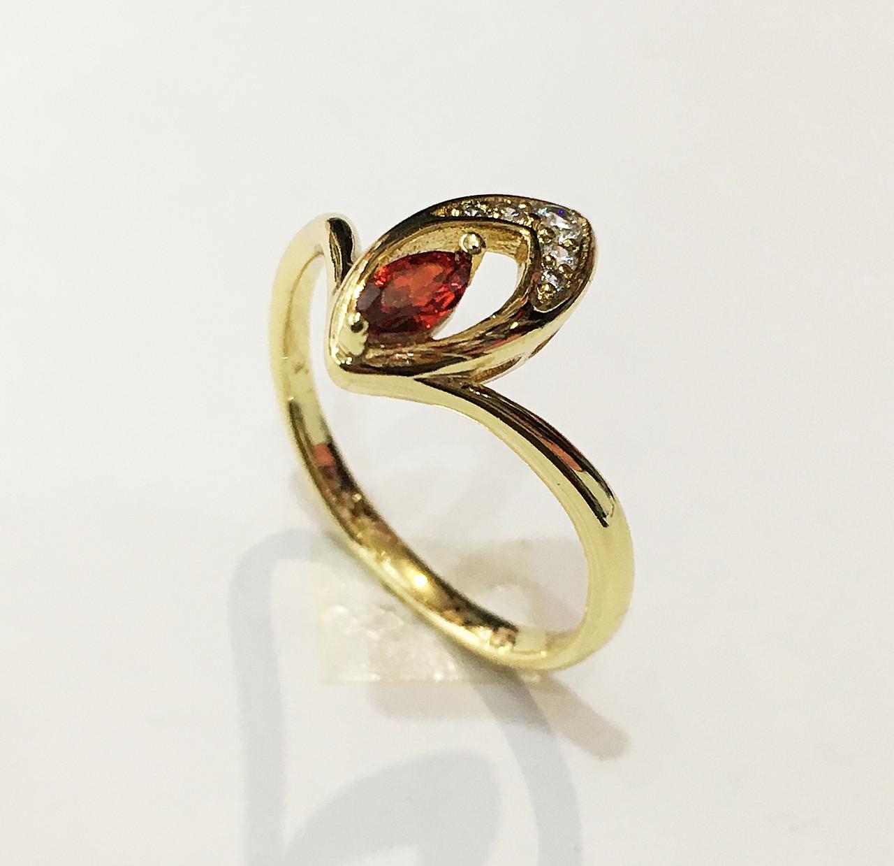 Кольцо Клермон, размер 18, 19 ( под итальянское золото 750 пробы) XP