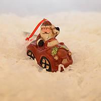 "LV 183223 новогодняя игрушка ""Дед Мороз на машине"""