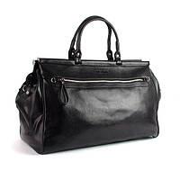 Саквояж сумка дорожная спортивная кожзам черная Samsonite 6003
