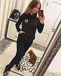 Женский теплый костюм с мехом трикотаж на меху: толстовка и брюки (2 цвета), фото 4