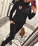 Женский теплый костюм с мехом трикотаж на меху: толстовка и брюки (2 цвета), фото 6