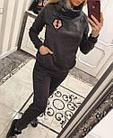 Женский теплый костюм с мехом трикотаж на меху: толстовка и брюки (2 цвета), фото 3