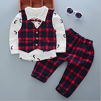 Костюм детский нарядный мальчику рубашка жилетка штаны