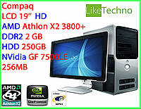 "Компьютер HP Compaq LCD 19"" Athlon X2/RAM 2GB/HDD 250GB/nVidia 256MB"