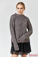 Женский теплый вязаный свитер зимний