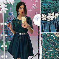 """Платье в стиле """"baby doll"""" кружевной верх и пышная юбка разные цвета SMs1258"""