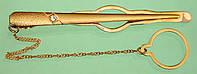 Золотий зажим з цирконом