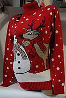 Свитер женский с оленем оптом, кофта с оленем опт Одесса кофта новогодняя