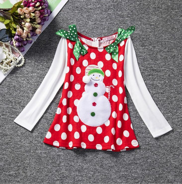Платье детская с новогодним принтом девочке