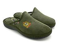 Зеленые Мужские тапочки Spesita, домашняя обувь с анатомической подошвой (41-46)