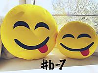 Большая подушка-смайлик Emoji #b-7 Весельчак Smile