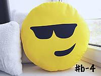 Большая подушка-смайлик Emoji #b-4 Крутелик Smile