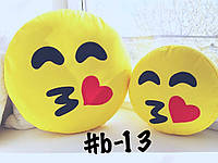 Большая подушка-смайлик Emoji #b-13 Поцелуйчик Smile