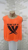 Манишка для футбола Swift оранжевая (сетка), фото 3