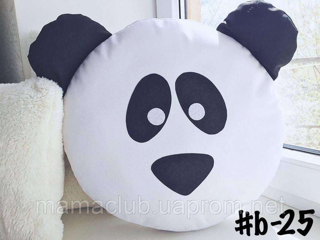 Большая подушка-смайлик Emoji #b-25 Панда Smile