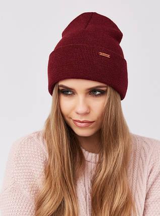 Теплая зимняя женская шапка , фото 2