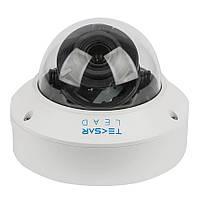 Купольная IP камера видеонаблюдения Tecsar Lead IPD-L-4M30F-SDSF6-poe 2,8 mm, фото 1