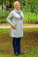 Теплая женская туника большого размера, фото 1