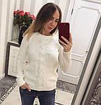 """Женский красивый свитер """"Коса"""" с оригинальной спинкой (6 цветов), фото 3"""