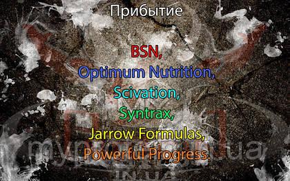 Поступление: BSN, Jarrow Formulas, Powerful Progress, Optimum Nutrition, Scivation, Syntrax.