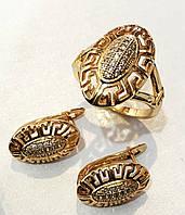 Набор Корте серьги+ кольцо размер кольца 17