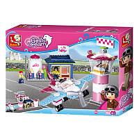 Конструктор «Розовая мечта. Маленький аэропорт» M38-B0608 Sluban, 284 детали