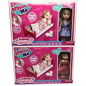 Кукла маленькая 63005W   2 вида,кроватка,питомец,аксесс