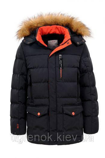 810e1081 Зимняя теплая удлиненная куртка на мальчика, детская подростковая ТМ  Glo-story Венгрия. Рост