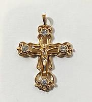 Крест на цепочку большой с камнями