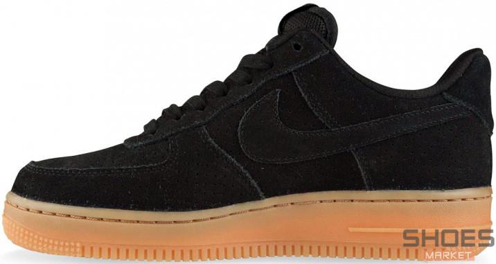 Женские кроссовки Nike Air Force 1 Low Black Gum AQ0117-002, Найк Аир Форс