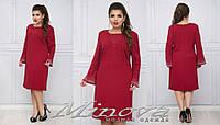 Платье (52,54,56,58) — креп купить оптом и в розницу в одессе  7км