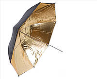 Фото зонт 84см студийный, золотистый на отражение