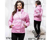 Ledi M Женская короткая куртка BL 17431 розовый Леди М