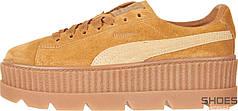 Женские кроссовки Puma x Fenty Cleated Creeper Brown 366268-02, Пума Фенти Крипер