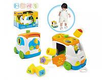 Развивающая игрушка-сортер Weina Музыкальный автобус