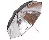 Фото зонт 84см студийный, серебристый на отражение